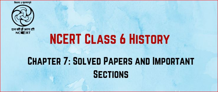 ncert history book for claas 6