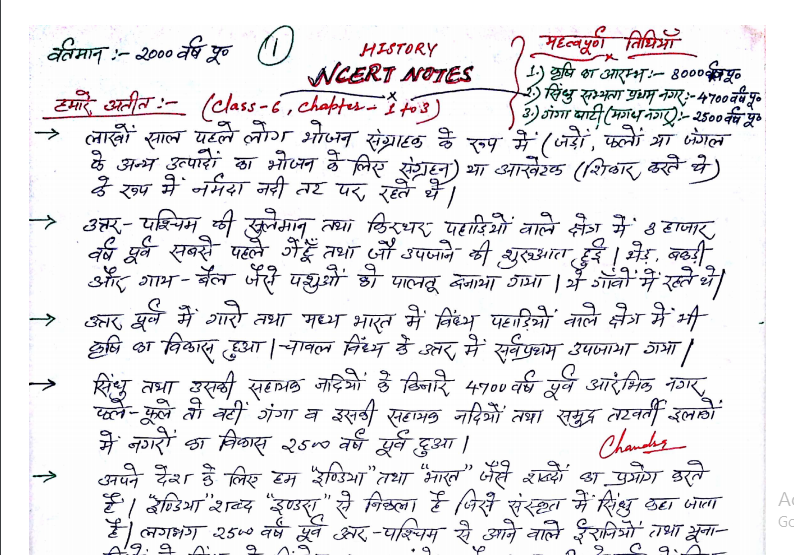 NCERT Indian History Notes Free PDF Download
