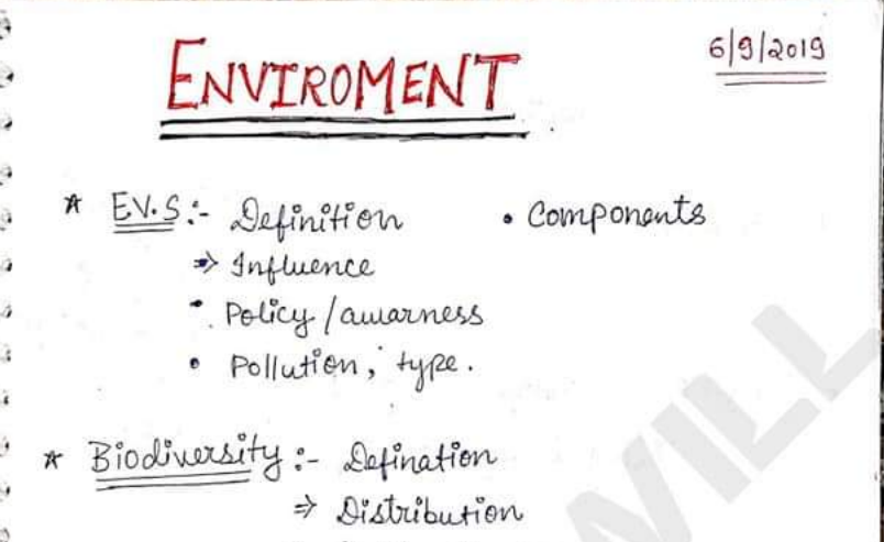 Important Environment Notes PDF for all Competitive Exams